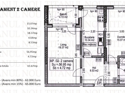 ATENA RESIDENCE - THEODOR PALLADY - APARTAMENT 2 CAMERE